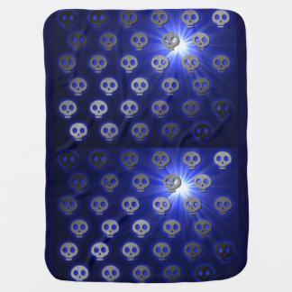 Blueberry Skulls baby blanket