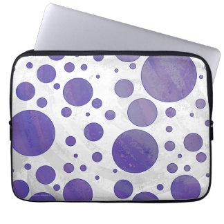 Blueberry Smear Polka Dot Pattern Laptop Sleeve