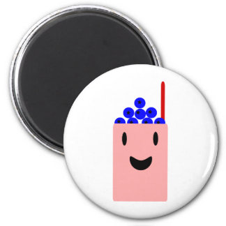 Blueberry Smoothie cute 6 Cm Round Magnet