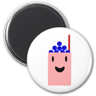 Blueberry Smoothie 6 Cm Round Magnet
