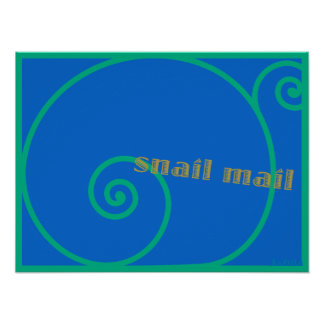 Blueberry Snail Mail Poster
