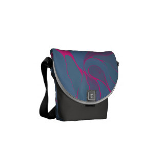 Blueberry Splash Bag Courier Bag
