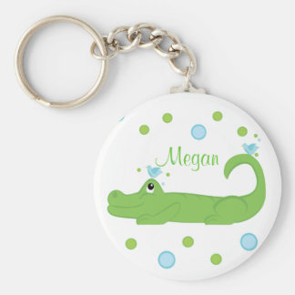 Bluebird and Gator Basic Round Button Key Ring