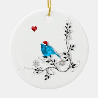 Bluebird and Heart! Christmas Ornament