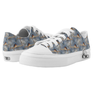 Bluebird Animal Nature Pattern Low Tops