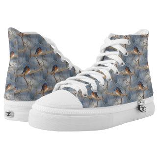 Bluebird Animal Nature Pattern Printed Shoes