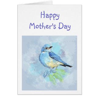 Bluebird Bird Art Scripture Christian Mother's Day Greeting Card