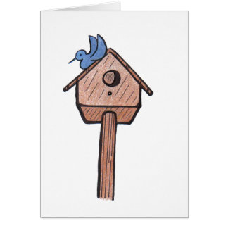 Bluebird Birdhouse...All Occasion  Card... Card