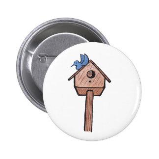 Bluebird Birdhouse...Button...