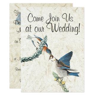 Bluebird Birds Wildlife Animals Wedding Invitation