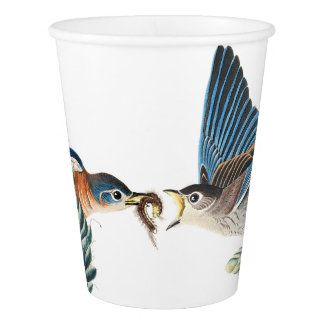 Bluebird Birds Wildlife Flower Animal Paper Cup
