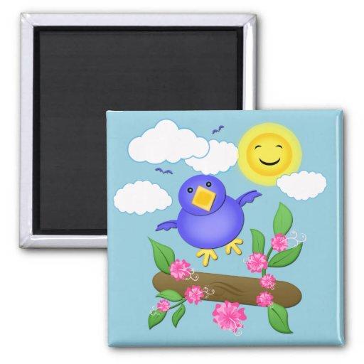 Bluebird Happiness Spring Magnet