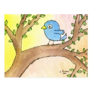 Bluebird in a Tree Postcard