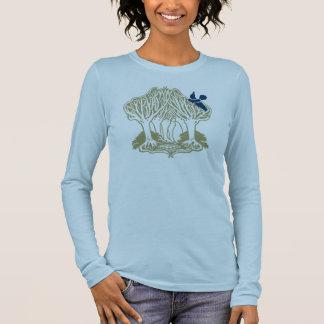 Bluebird in the trees. long sleeve T-Shirt