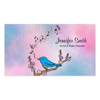 Bluebird Music Teacher Business Card