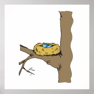 Bluebird Nest Print