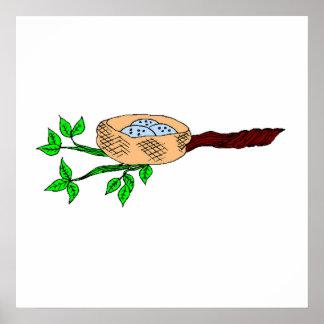 Bluebird Nest Posters