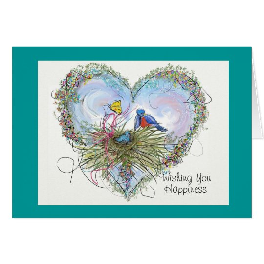 Bluebird of Happiness Card - Customised