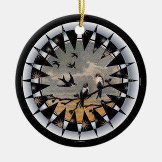 Bluebird of Happiness Ceramic Pendant Christmas Ornament