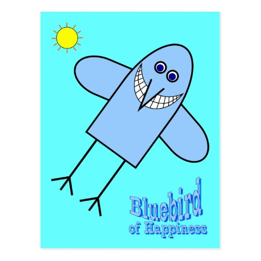Bluebird of Happiness Post Cards