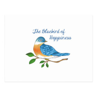 BLUEBIRD OF HAPPINESS POSTCARD