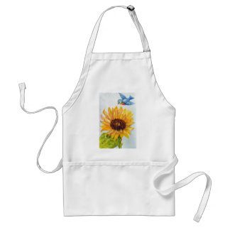 Bluebird of Happiness with Sunflower Standard Apron