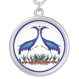 Bluebird - Peacock Round Pendant Necklace