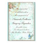 Bluebird & Pink Roses Engagement Announcement 13 Cm X 18 Cm Invitation Card