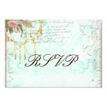 Bluebird & Pink Roses RSVP Cards Personalized Announcement