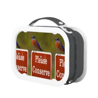 Bluebird Please Conserve Yubo Lunch Box