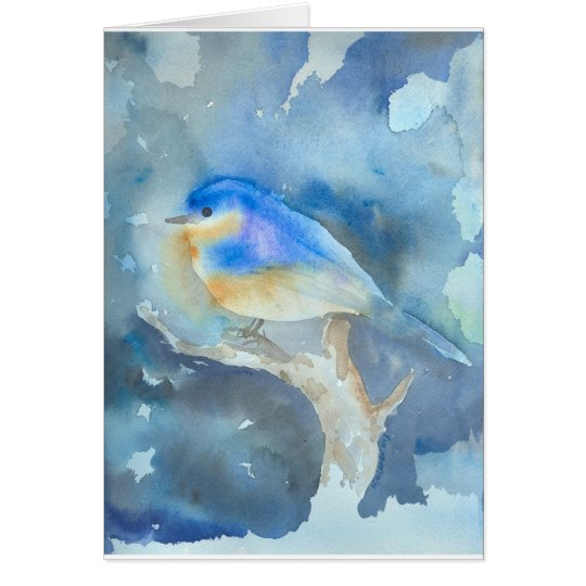 Bluebird Watercolor Art Card