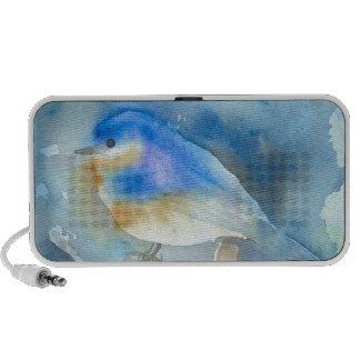 Bluebird Watercolor Art iPhone Speakers