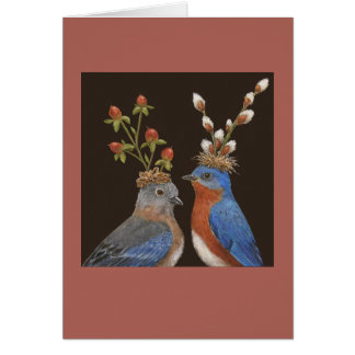 Bluebird Wedding card