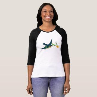 Bluebird with Flower in its Beak T-Shirt