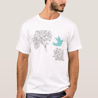 Bluebird with flowers T-Shirt