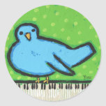 bluebird with piano stickers