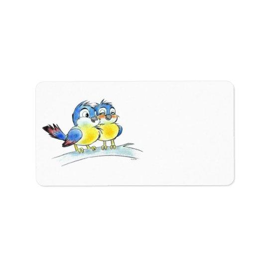 Bluebirds Address Label