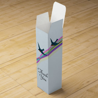 """Bluebirds and Rainbow, """"Thank You"""""""" Wine Gift Box"""