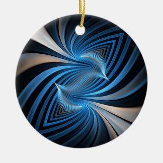 Bluebirds Fractal Christmas Ornament