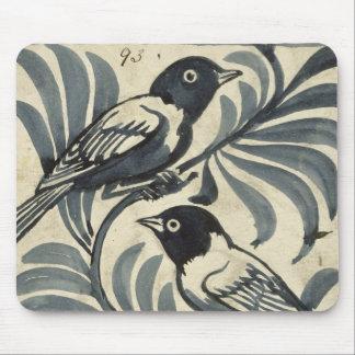 Bluebirds (w/c on paper) mouse mat