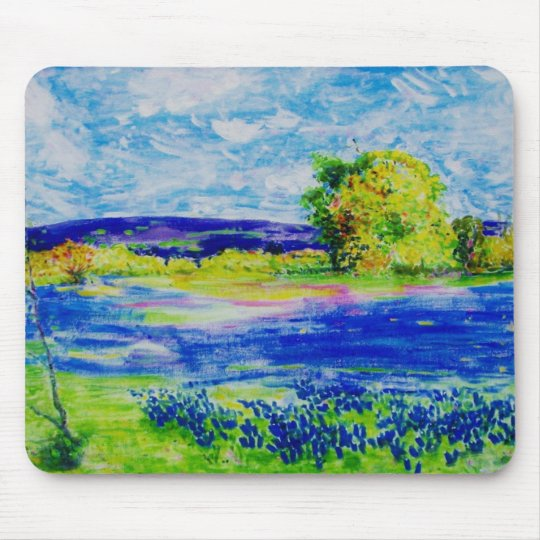 bluebonnet fields forever mouse mat