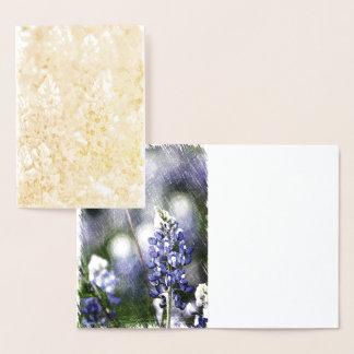 Bluebonnet Foil Card