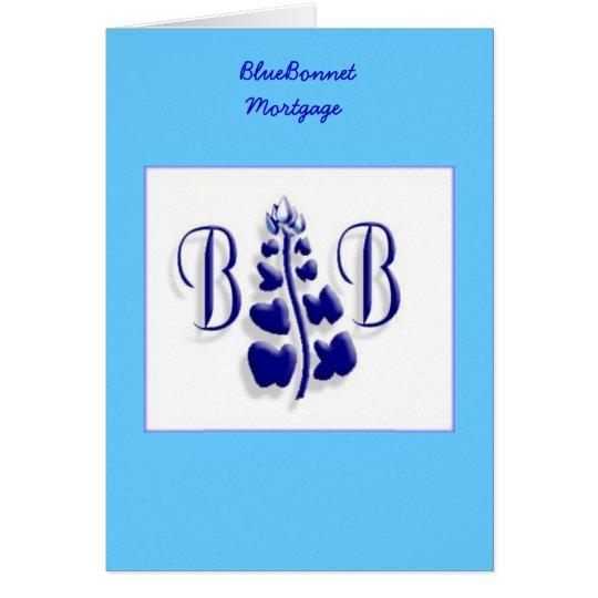 BlueBonnet Logo Card