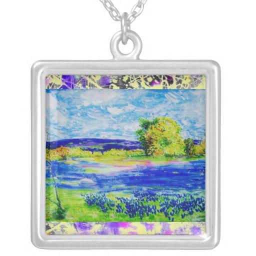 bluebonnet wildflowers drip jewelry