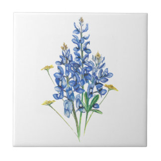 Bluebonnets and Wildflowers Tile