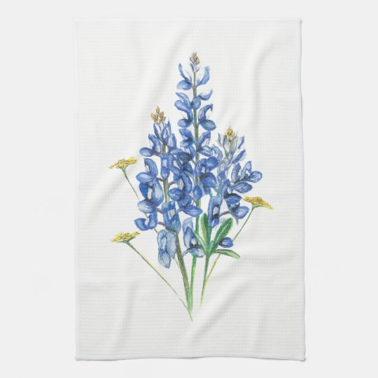 Bluebonnets Tea Towel