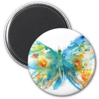 bluebutterfly.jpg 6 cm round magnet