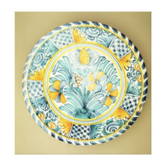 Bluedash' Delftware charger, Lambeth pottery Canvas Print