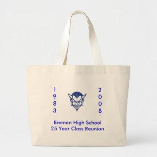 BlueDevil, Bremen High School25 Year Class Reun... Large Tote Bag