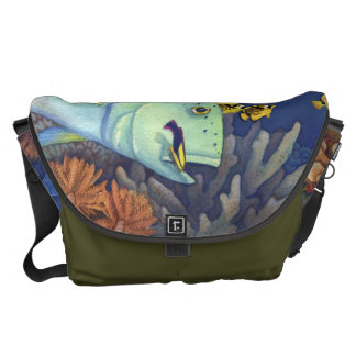 Bluefin Trevally (Omilu) Reef Scene Messenger Bag